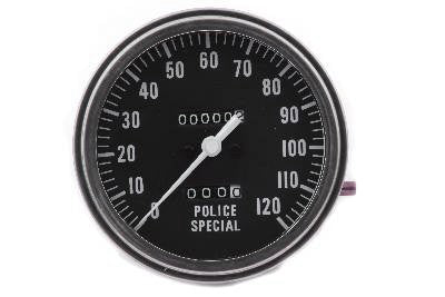 Police Special 1:1 MPH Speedometer For Harley-Davidson 1962-1983
