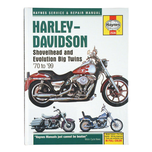 Haynes M2536 Service Manual For Harley-Davidson 1970-1999 Shovelhead & Evolution