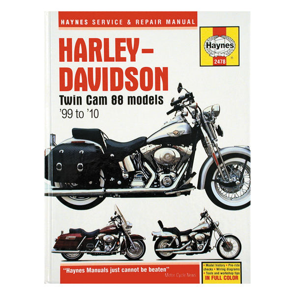 Haynes Workshop Service Manual For Harley-Davidson Twin Cam 1999-2010