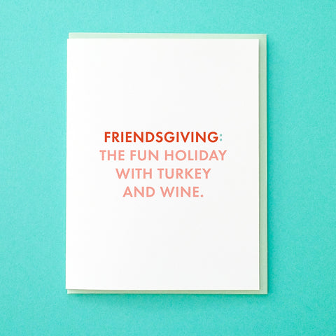 Funny Friendsgiving Card. Thanksgiving Card