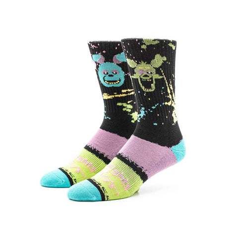 Black Light Splash Knit Socks | Official Five Nights at Freddy's Merch