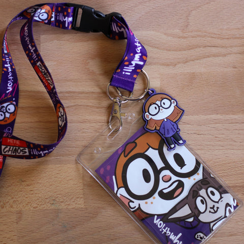"""Here for the Chaos"" Lanyard with Charm"