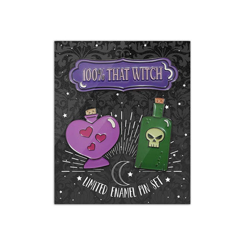 Witch of the Woods Bottle Pins