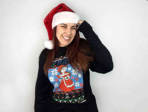 Geeks & Creeps Ugly Holiday Shirt | Official Let Me Explain Studios Merch - Creator Ink