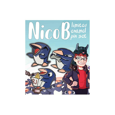 Picky Penguin Pin Set | Official NicoB Merch