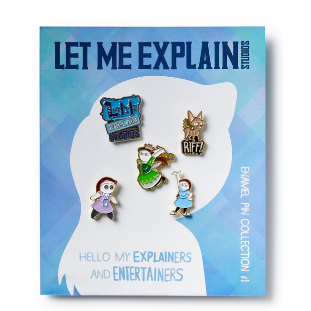 Let Me Explain Studios Collectible Enamel Pin Set