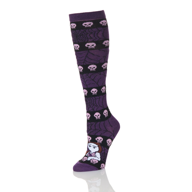 Skull and Cobwebs Halloween Knee High Socks - Creator Ink