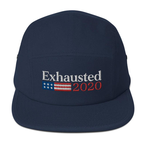Embroidered Exhausted 2020 5 Panel Adjustable Hat | Exclusive Philip DeFranco Merch