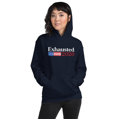 Classic Exhausted 2020 Unisex Hoodie