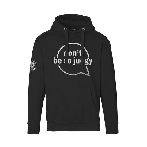 Don't Be Judgy Black Hoodie by storybooth - Creator Ink