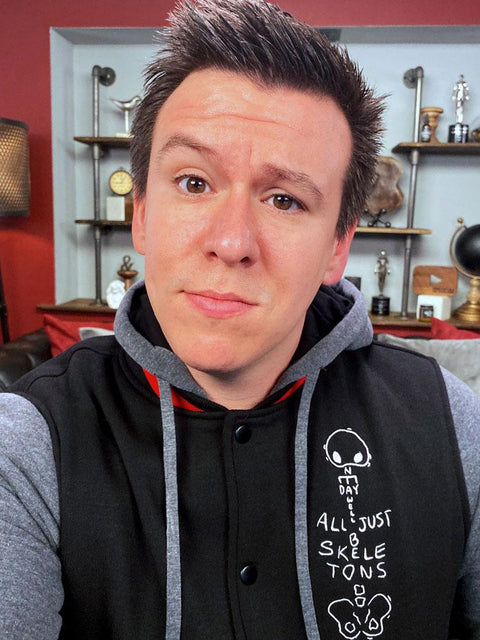 Skeletons Varsity Hoodie | Exclusive Philip DeFranco Merch