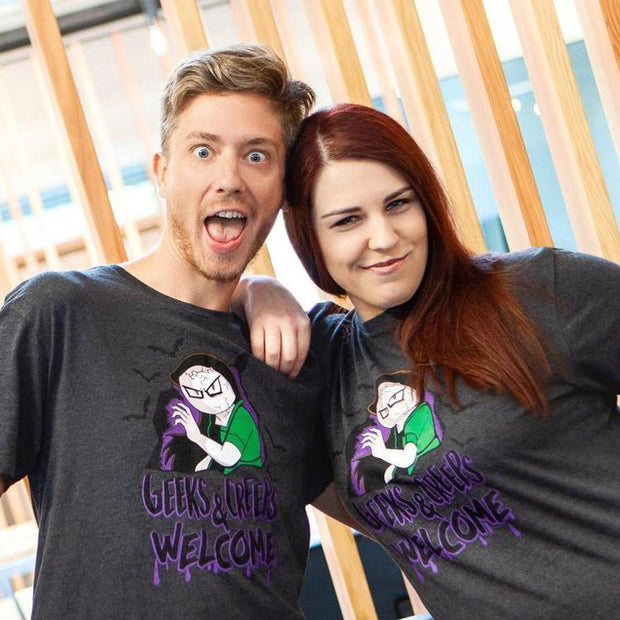 Geeks and Creeps Unisex T-Shirt by Let Me Explain Studios - Creator Ink