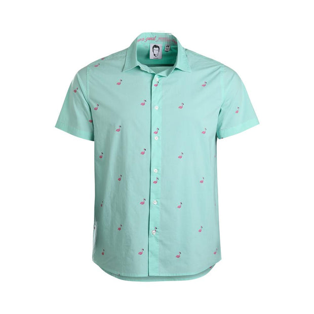 Flamingo Short Sleeve Shirt by Philip DeFranco - Creator Ink
