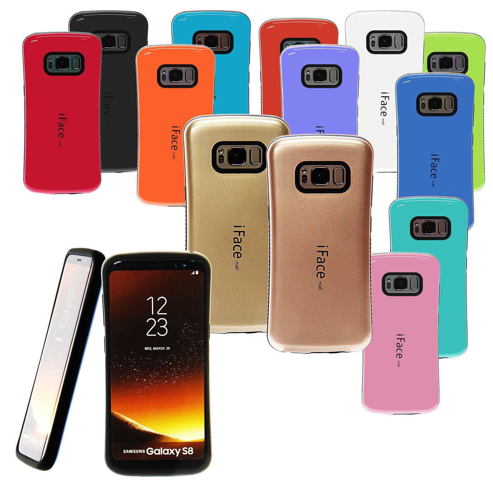 Authentic Samsung Note8 Iface Heavy Duty Bumper Shockproof Hard Case Goospery Iphone 7 Plus Sky Slide Red Note9 Drop Protection