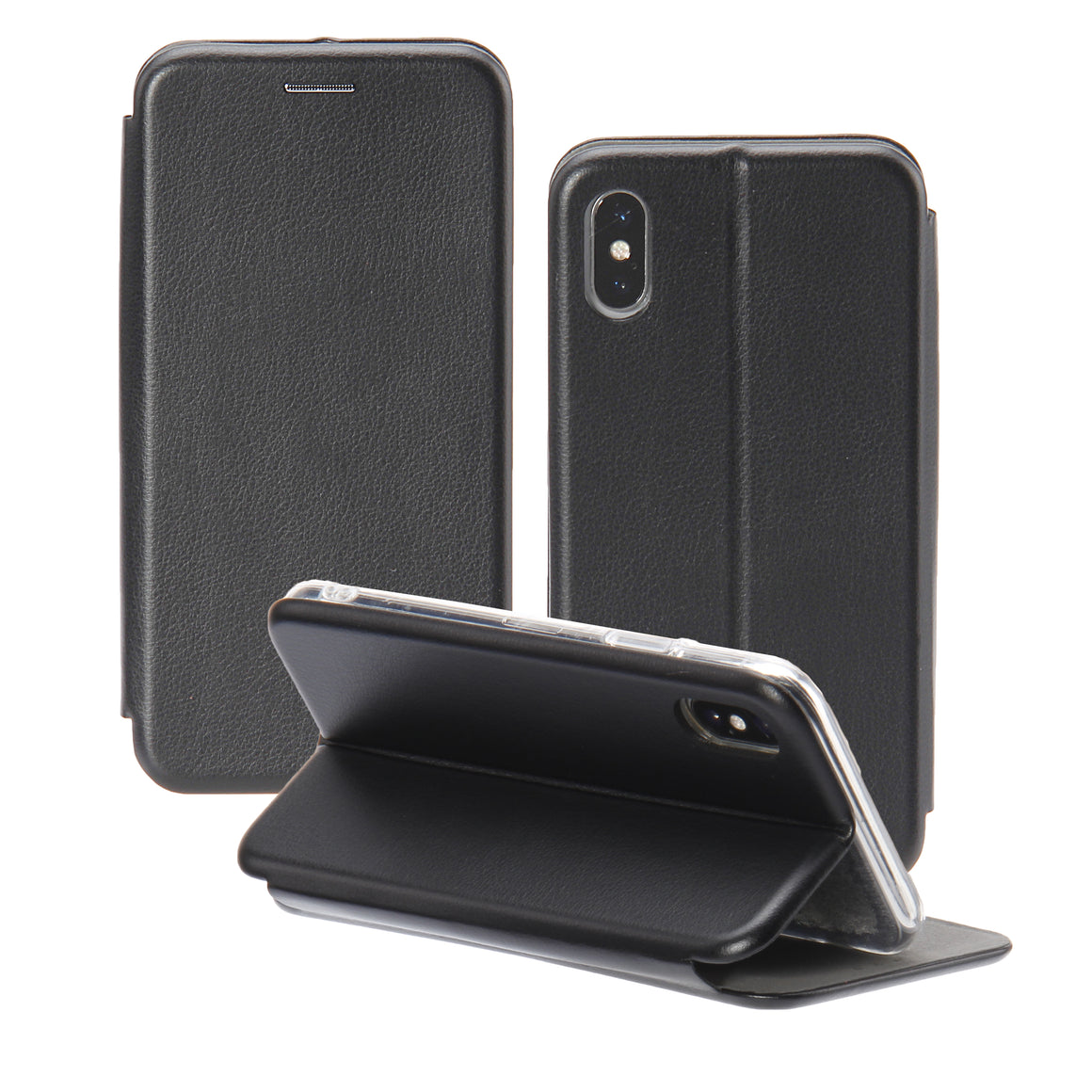 iPhone X  RC Leather Flip Card Stand Monogrammed Engraving And Stamping Case - caseoftheday.com.au