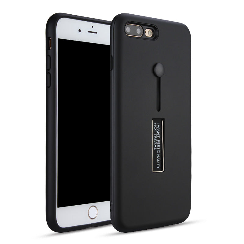 iPhone Velvet hybrid PC Back Panel Soft TPU Bumper Case Stand Ring Holder - caseoftheday.com.au
