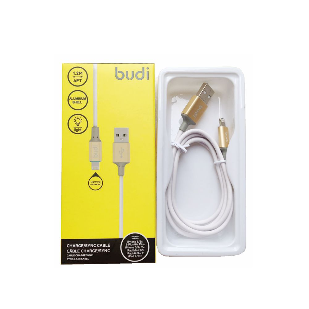 Budi 12m Lightning Usb Charge Sync Cable Metal Light Shell For Goospery Iphone 5 Style Lux Jelly Case Black Ipad
