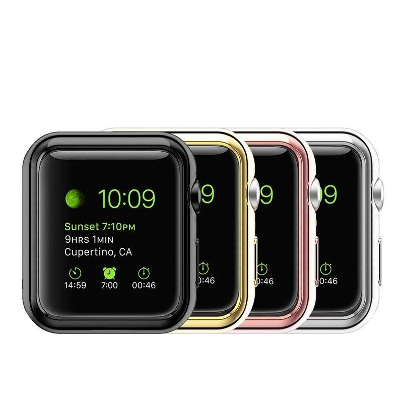 Crystal Clear Protective TPU Case Electroplating For Apple iWatch 1 2 3 - caseoftheday.com.au
