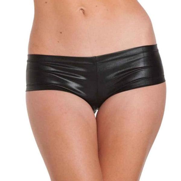 Fitgood21 Hot Metallic Faux Leather Booty Shorts, Shorts, Look Good, Feel Good, Fitgood21