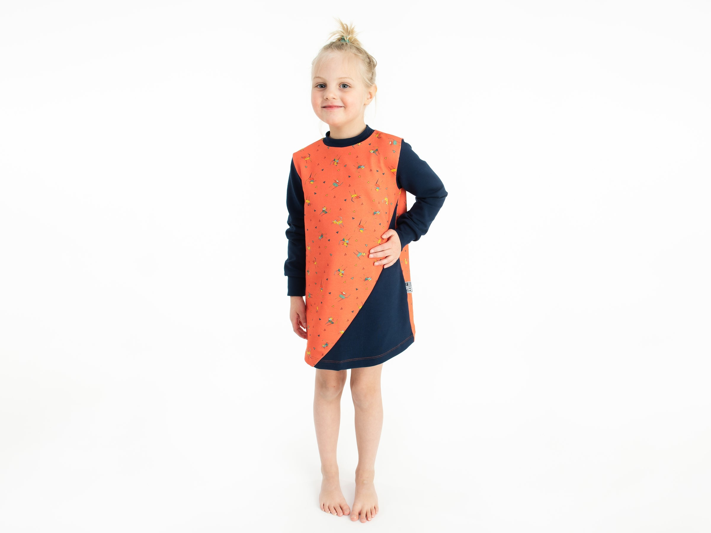 CATNAP TUNIC coral/navy