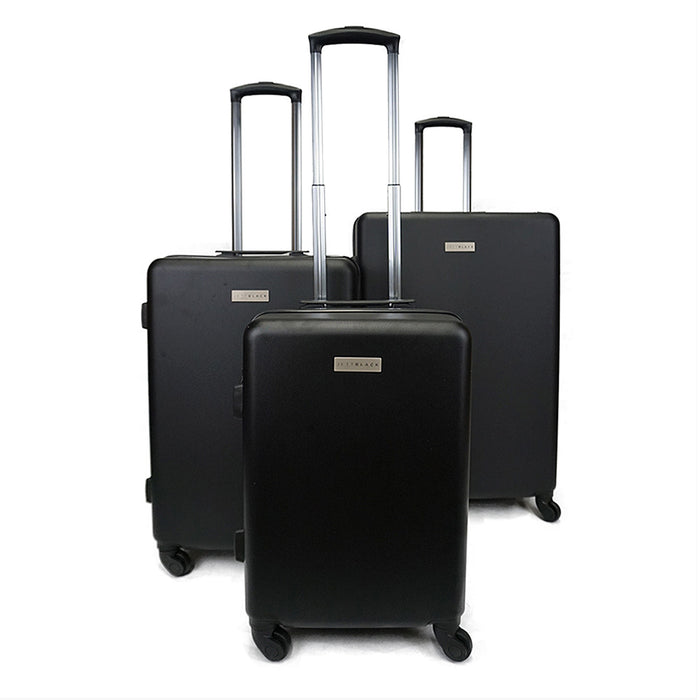 3pc Matte Black Series Luggage Set - Kukachoo