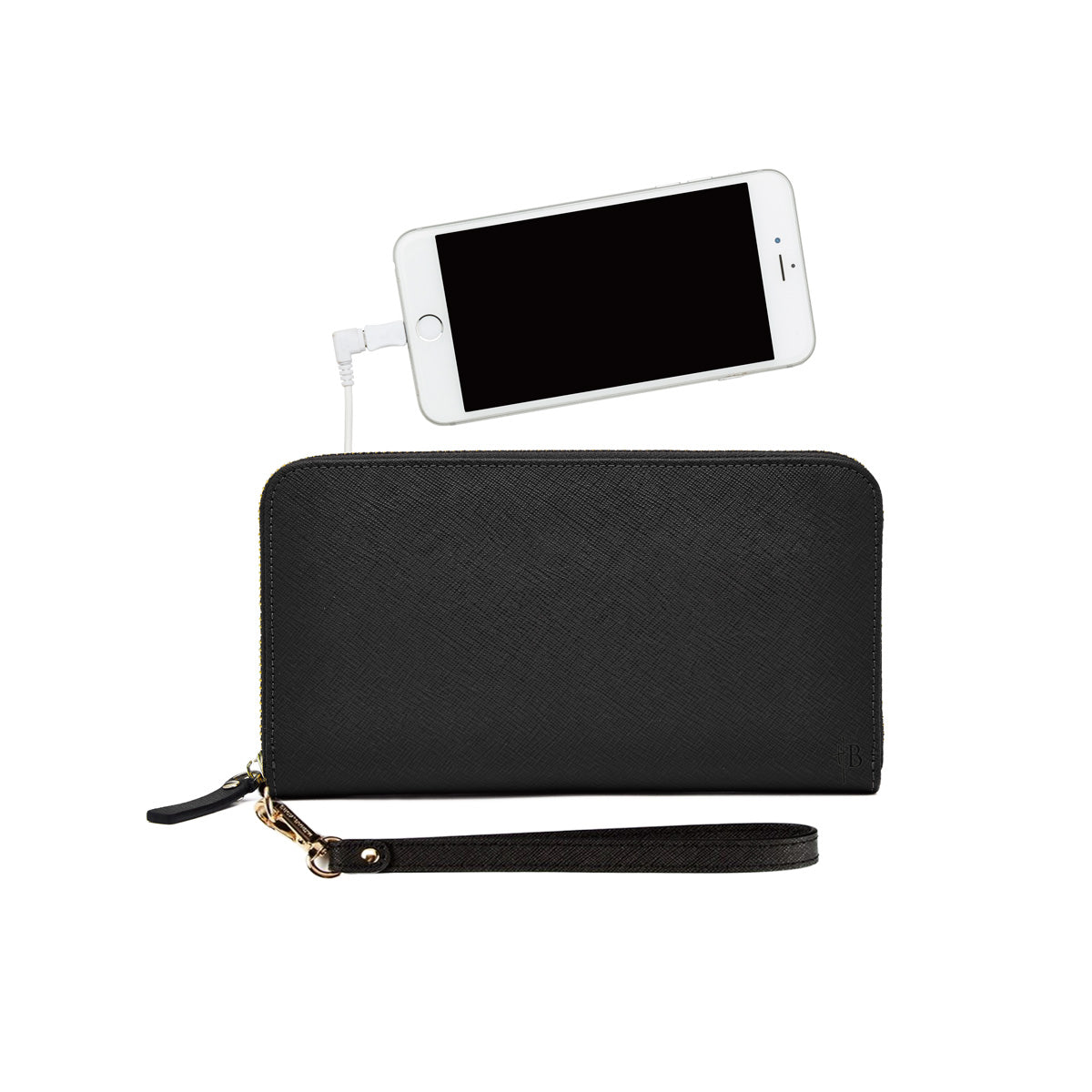 MightyPurse Zipper Wallet with built-in Phone Charger - Kukachoo