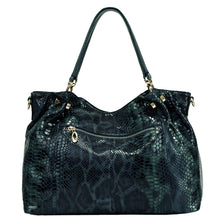 Casual Serpentine Leather Bag - Kukachoo