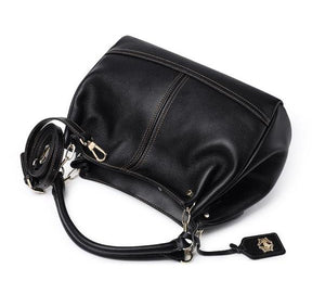 Casual Leather Handbag - Kukachoo