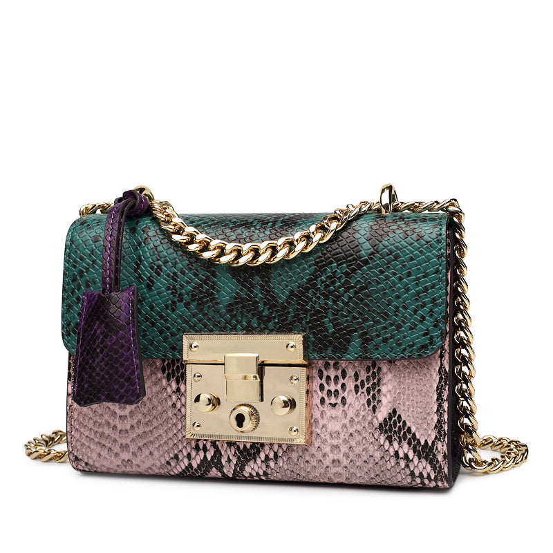 Leather Handbag with Chain - Kukachoo