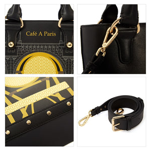 Paris Series Mini Tote Shoulder Bag - Kukachoo