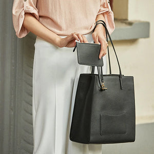 Super Soft Feel Leather Tote - Kukachoo