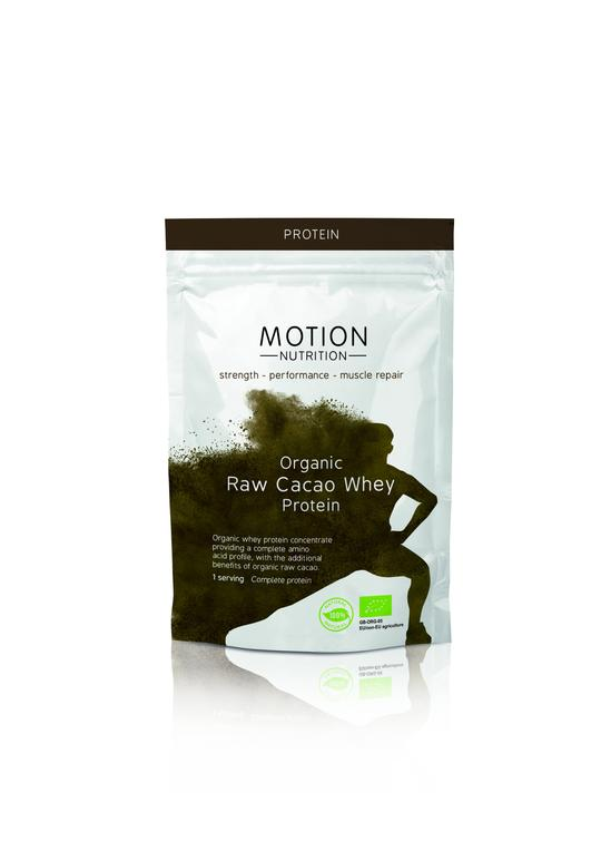 Motion Nutrition Organic Raw Cacao Whey Protein - Single Serving