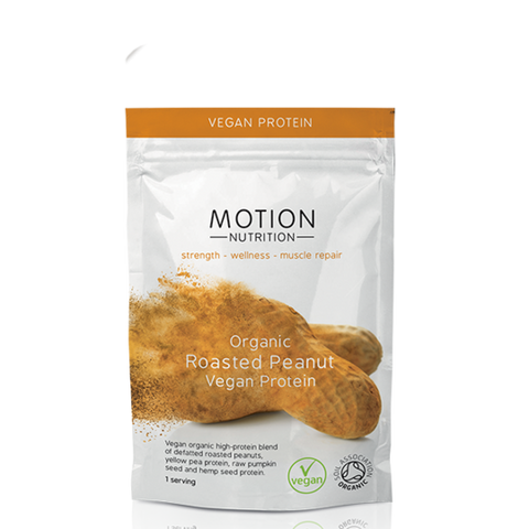 Motion Nutrition Organic Roasted Peanut Vegan Protein - Single Serving
