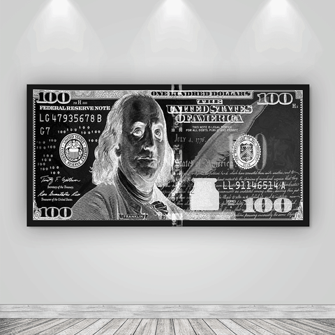 Black 100 Dollar Bill - Iceberg Of Success