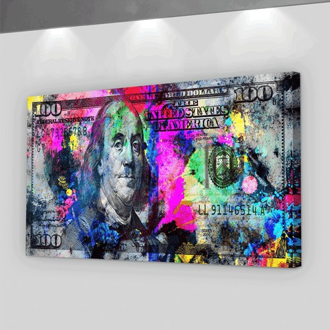 100 Dollars Pop Art - Iceberg Of Success