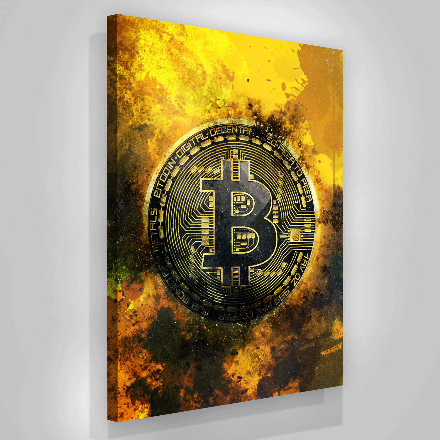 Bitcoin Coin Canvas Print Office Wall Decor Modern Art