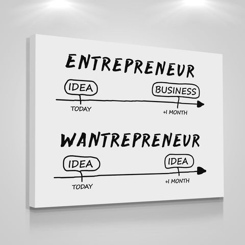 Entrepreneur VS Wantrepreneur - Iceberg Of Success