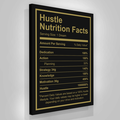 Hustle Nutrition Facts - Iceberg Of Success