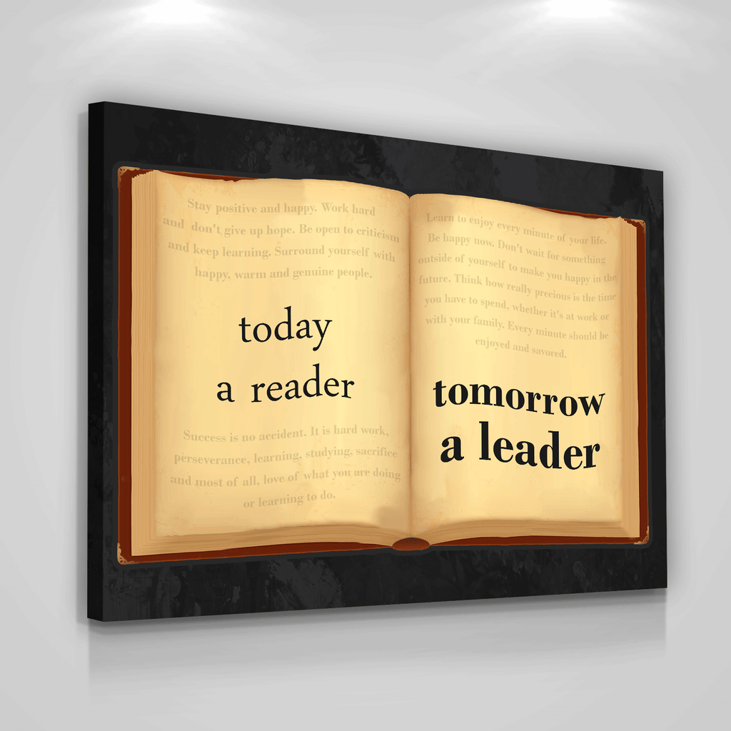 Leader Book Canvas Print Wall Office Decor Modern Art Motivation ...