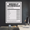 Weekly Schedule - Iceberg Of Success