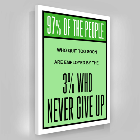 3% Who Never Give Up - Iceberg Of Success