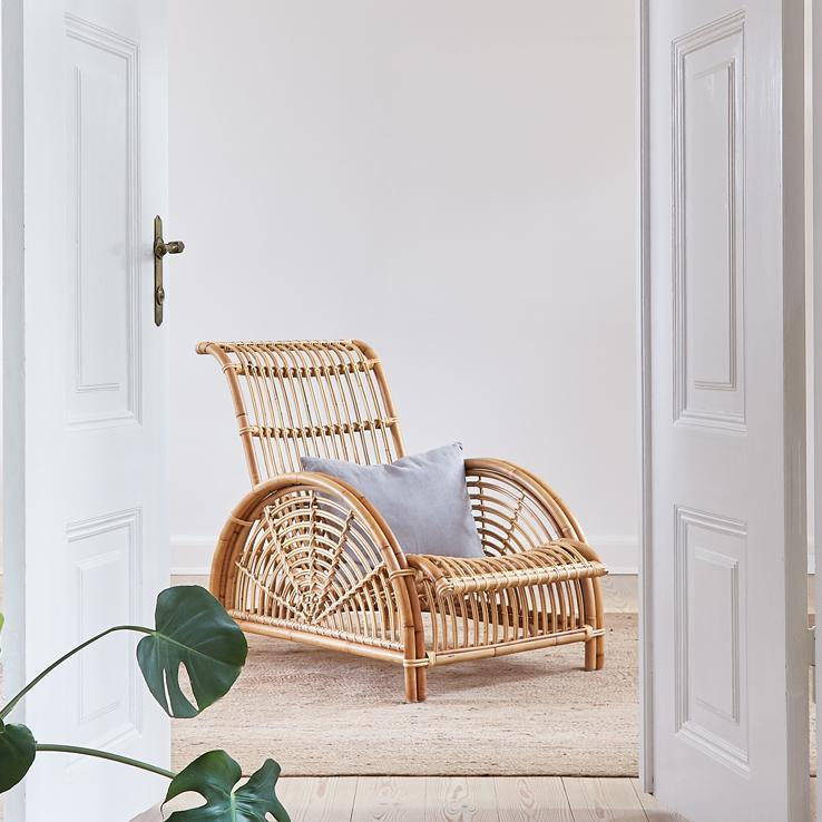 Chaise Lounge Rattan Sintetico.Sika Design Handcrafted Design Furniture