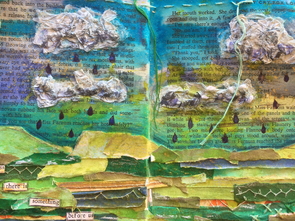 Workshop | Creative Craft Show : London Autumn 2018 | STITCHED AND ALTERED BOOK PAGES with Bex Raven