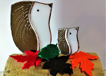 Workshop | Creative Craft Show/Crafts for Christmas: Glasgow - Autumn 2019 |  MAKE HEDGEHOG HETTY AND BABY LULU IN STAINED GLASS