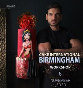 Workshop | Cake International 2021 | Jasmine in Red with Javier Azocar