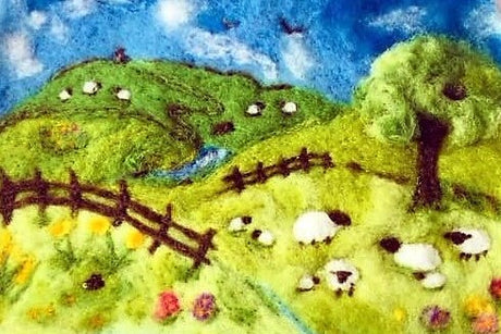 Workshop | The Creative Craft Show/ Sewing for Pleasure/ Fashion & Embroidery - Spring 2020 | Needle Felt A Beautiful Spring Landscape