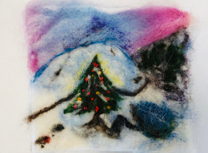 Workshop | The Creative Craft Show (featuring Art Materials Live)/ Simply Christmas - Autumn 2019 | Needle Felted Winter Landscape