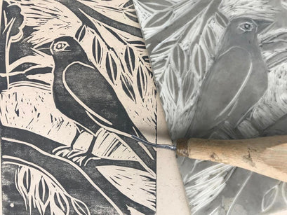 Workshop | The Creative Craft Show (featuring Art Materials Live)/ Simply Christmas - Autumn 2019 | Lino printing with Ros Ingram