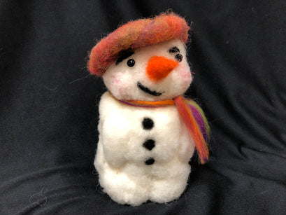 Workshop | The Creative Craft Show (featuring Art Materials Live)/ Simply Christmas - Autumn 2019 | Needle Felted Snowman