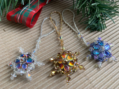 Workshop | Creative Craft Show/Crafts for Christmas: Glasgow - Autumn 2019 |  SPARKLING BEADED STAR DECORATIONS